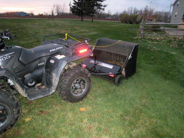 Lawn Sweeper Picking Up Walnuts Net Tractor Talk